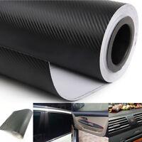 3D Black Carbon Fiber Vinyl Wrap Stickers Car Interior Accessory Interior Panel