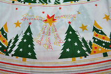"RARE Vintage Chistmas BUON NATALE Tablecloth 62"" x 93"" Oval Unused"