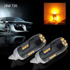 No Error Canbus 3030 28W 7440 W21W T20 18 SMD LED Amber Blinker Standlicht Licht