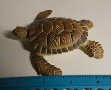 """Aaa Brand Loggerhead Sea Turtle Plastic 4"""" Long Figurine Ocean Marine"""