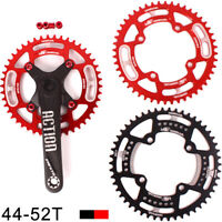 170 104BCD Crankset Crank MTB Bike 44-52T Narrow Wide Single Chainring Sprocket