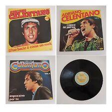 ADRIANO CELENTANO 3 disques vinyles 33 tours