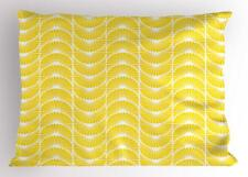 White and Yellow Pillow Sham Decorative Pillowcase 3 Sizes Bedroom Decoration