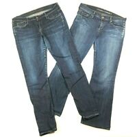 Lot of 2 Citizens of Humanity Womens 31 32 Jeans Avedon Low Rise Skinny Flared