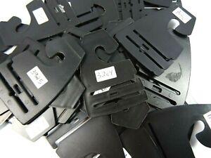 250pc Plastic Tie Hangers Tabs Hooks for Neckties Closet Storage