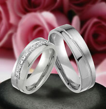 2 Echt Silber 925 Trauringe Eheringe Verlobungsringe , Gravur Gratis , J355