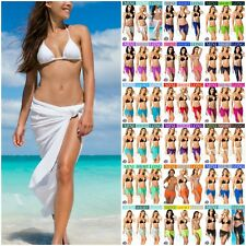 COQUETA SHEER sarong BEACH COVER UP wrap SEXY BIKINI PAREO SWIMWEAR SKIRT womens