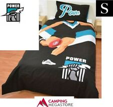 SINGLE BED AFL PORT ADELAIDE POWER REVERSIBLE QUILT DOONA COVER + PILLOWCASE