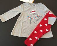 Gymboree Girls Christmas Meowy Catsmas Pajamas Gymmies Size 4 7 8 NEW