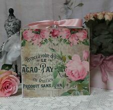 """~ Shabby Chic Vintage Country Cottage style ~ Wall Decor Sign """"Sweet Roses"""" ~"""