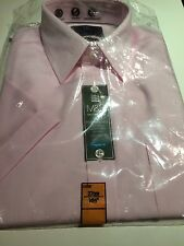 """BNIP New Marks Spencer M&S Collection Pink Cotton Shirt 14.5"""" Short Sleeve"""