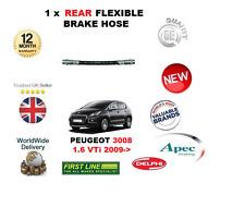 pour Peugeot 3008 1.6 VTI 2009- > 1x arrière Flexible caoutchouc Durite de frein