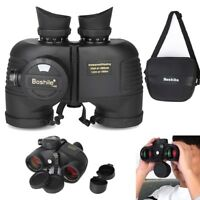 7X50 Military Marine Night Vison Binoculars Waterproof W/ Rangefinder Compass SA