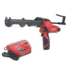 Cordless Caulk and Adhesive Gun Kit 10 Oz Variable Speed Tool Lithium Ion 12V