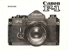 CANON F-1 SLR 35mm CAMERA OWNERS INSTRUCTION MANUAL--CANON F1--from 1970s