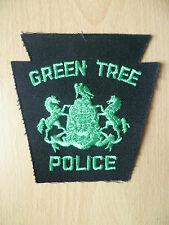 Patches: GREEN TREE POLICE PATCH (NEW. apx.4x3.12 inch)