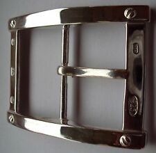 "Solid Sterling Silver Belt Buckle ""The Plaza"" in the Art Deco Style"