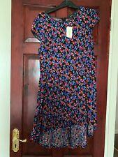 Forever 21 Black Floral Soft High Low Dress- Large