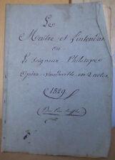 THEATRE/OPERA D'AVIGNON/Elzéar-Marie JOUVE/vaudeville/1829/Apt/Vaucluse/DORVAL