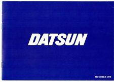 Datsun Nissan 1978-79 UK Brochure Cherry Sunny Violet Bluebird Laurel 280C 260Z