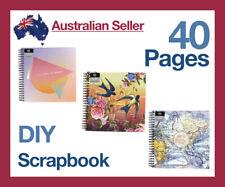 40pg Large Vintage DIY Scrapbook Album Photo Travel Memory Craft Book Hardcover
