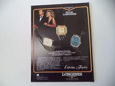 advertising Pubblicità 1981 LONGINES FLAGSHIP