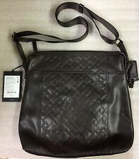 Tumi CROSSBODY TOP ZIP Brown Leather Bag Tablet Case Purse 31103DBT $425