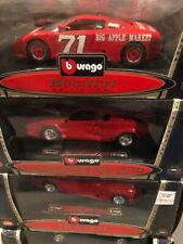 Burago 1/24 set of 4 rare models 3 Bugatti EB110 rare and Lamborghini Countach