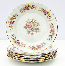 Vintage Royal Standard Bone China Tea Plates Floral Set 6