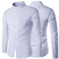 Chinese Men's Traditional Tang Suit Coat Slim Fit Uniform Clothing Jacket Formal
