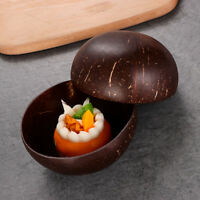 Natural Coconut Shell Bowl Rice Fruit Bowl Handicraft Art Work Home Tableware