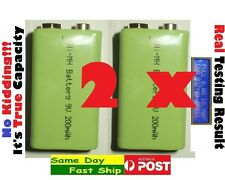 .2 x High Quality 9V 200mAh (True, NOT fake) Ni-MH NiMH rechargeable battery AU