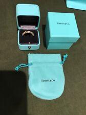TIFFANY & CO SCHLUMBERGER 18 STONE DIAMOND RING PLATINUM 18K GOLD RING BAND SZ 9