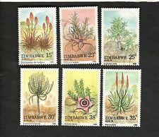 1988 Zimbabwe SC #566-71 ALOE PLANTS used stamps