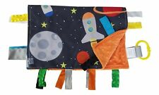 Educational Learning Lovey Ribbon Tag Security Blankets (Space Lovey)