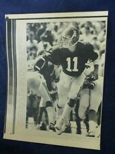 1986 Mike Shula Alabama QB vs Mississippi TD pass Vintage Wire Press Photo