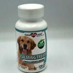 Coco & Luna by Vita Pet Life Calming Treats. Stress & Anxiety Support. 120 tabs