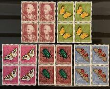 Série PRO JUVENTUTE 1957 : Blocs de 4 MNH** , Mi 648-652, Cote 25€