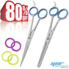 "YNR 6.5"" Professional Hairdressing Scissors Set Barber Hair Cutting Thinning"
