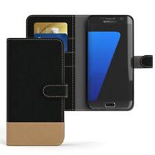 Tasche für Samsung Galaxy S7 Edge Jeans Cover Handy Schutz Hülle Case Schwarz