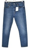 Womens Levis 501 SKINNY High Rise PREMIUM Blue Stretch Jeans Size 12 W30 L28
