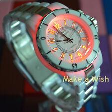 OHSEN Fasion LCD Light Sport Analog Women Men White Quartz WristWatch Watches