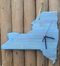 Wood New York State Clock - Conclocktions