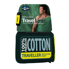 Sea To Summit Premium 100% Cotton Traveller Rectangular Sleeping Bag Liners Navy