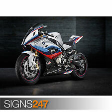 BMW S1000RR MOTOGP SAFETY BIKE (1502) Motorbike Poster - Photo Poster Print Art
