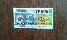 cupón de la once 15-12-06 Centenario Deportivo de La Coruña.