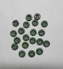 Lot of 20 Dark Green Sewing Buttons, 1/2 inch