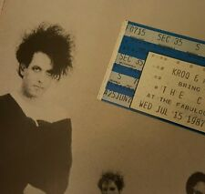 THE CURE 1987 KISSING TOUR CONCERT TICKET