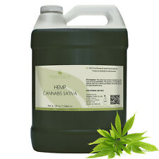 Hemp oil organic 100% pure raw uncut virgin pain relief carrier bulk non-gmo
