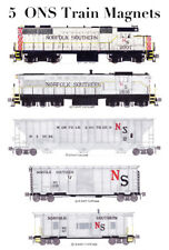 Norfolk Southern Gray Freight Train 5 magnets by Andy Fletcher
